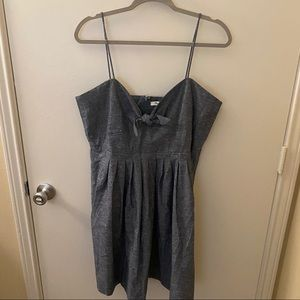 Madewell Chambray Stretch Tie Cotton Dress